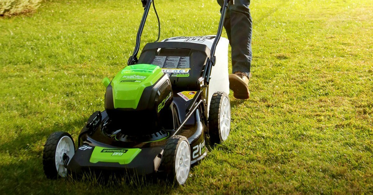 Amazon Greenworks Pro 80v Cordless Lawn Mower Only 161