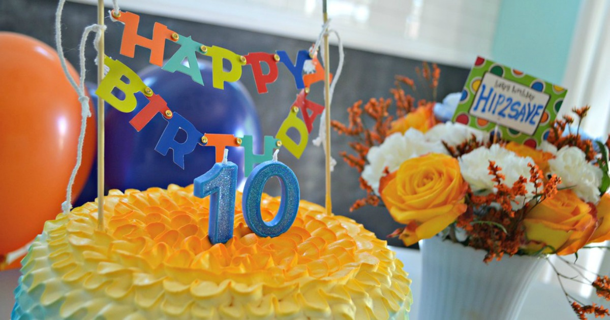 Hip2Save's Top 10 Recipe & DIY Posts of All Time –– Celebration cake and flowers