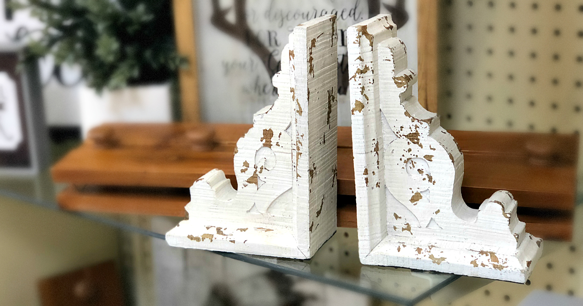 hobby lobby magnolia market corbel bookends – book ends in store