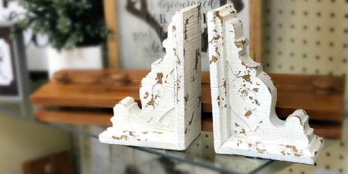 Hobby Lobby vs Magnolia Market: Distressed Corbel Bookends