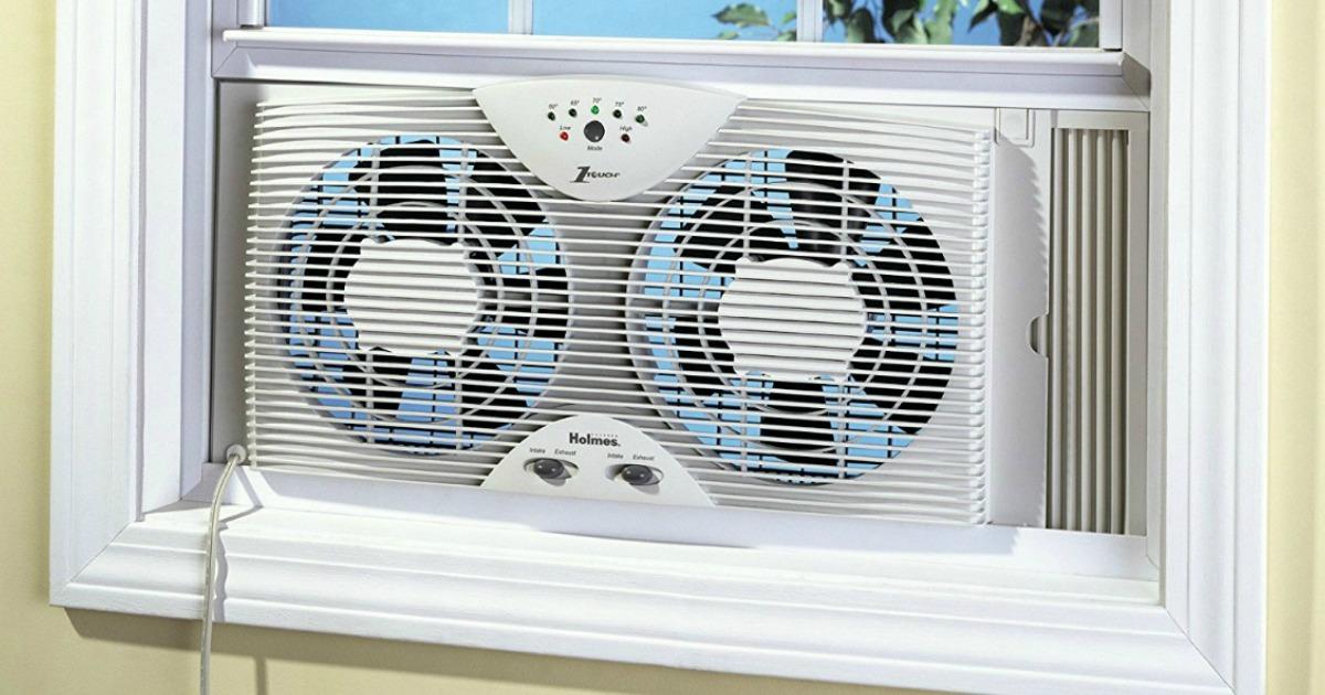 Holmes Electronic Reversible Twin Window Fan Only 30 79