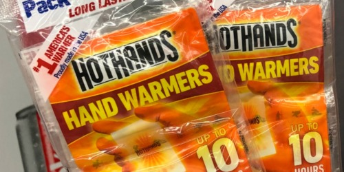 HotHands Hand Warmers 3-Pack Only $1.97 on Amazon or Walmart.com (Just 66¢ Per Pair)