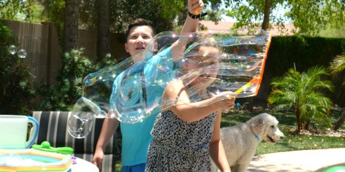Get the Kids Outside with This EASY DIY Bubble Solution
