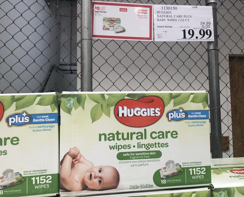 huggies wipes at Costco