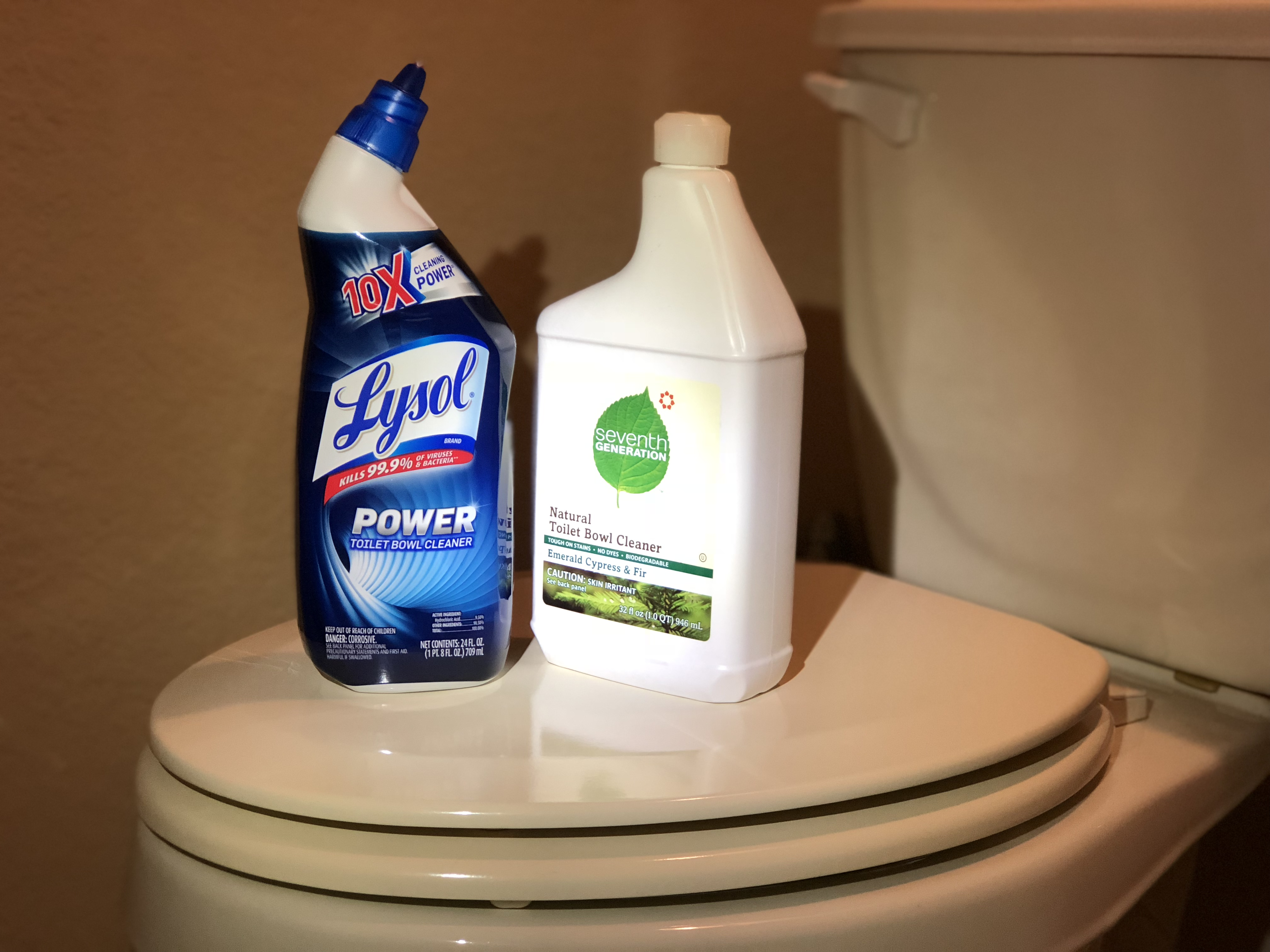 green natural eco-friendly cleaning products – Toilet Bowl Cleaners – Lysol versus Seventh Generation