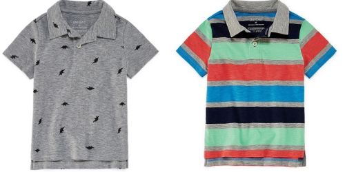 60% Off JCPenney Exclusive Brands = Okie Dokie Toddler Polo Shirts Just $4.87 Each