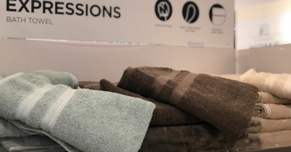 Chocolate and grey jcpenney home expression towels in store