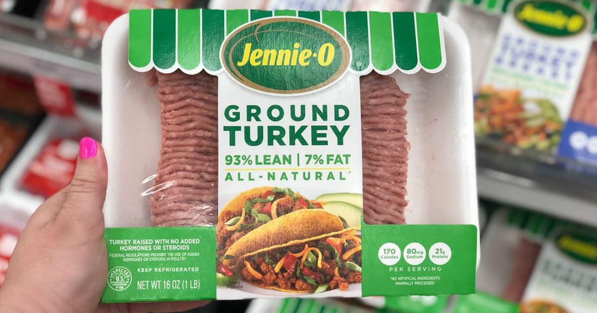 photograph regarding Printable Turkey Target named Significant Worth $1.50/1 Jennie-O Flooring Turkey Coupon \u003d 1 Pound