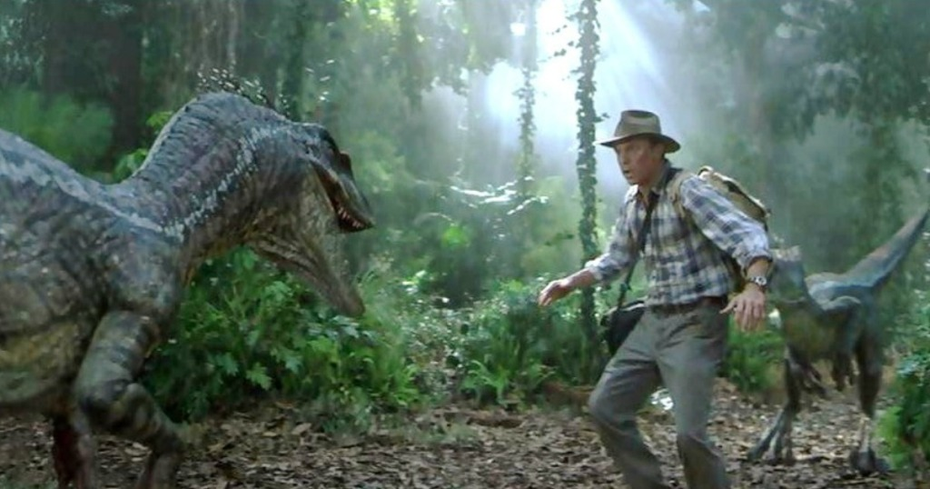 Jurassic Park Collection Man Standing with a Dinosaur