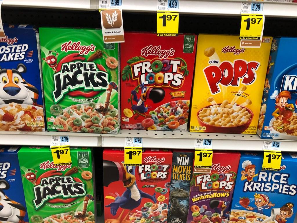 Rite Aid Kelloggs cereal