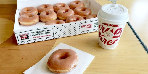 FREE Dozen Glazed Doughnuts w/ Dozen Purchase for NEW Krispy Kreme Rewards Members