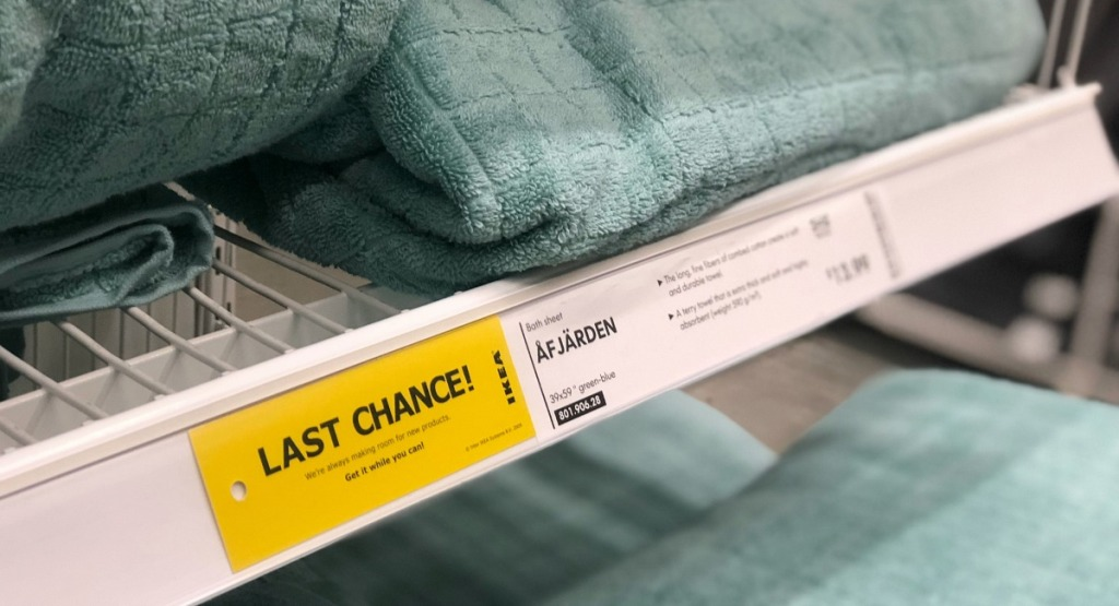ikea shopping tips — last chance labels