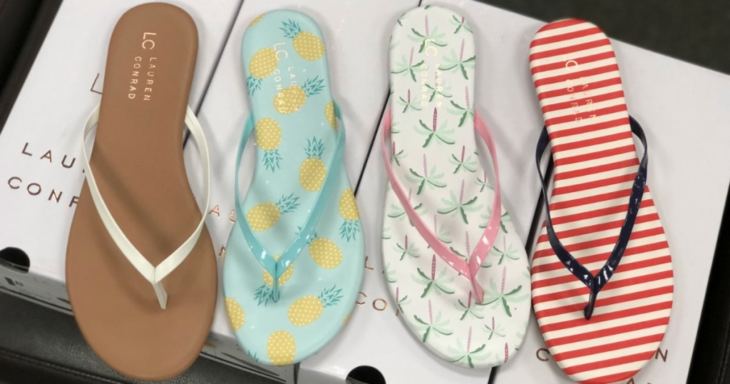 06ae4e0806d5 Hop on over to Kohl s where these cute LC Lauren Conrad Pixii Women s Flip  Flops are on sale for only  7.99 (regularly  19.99).