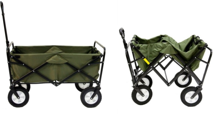 Hop on over to Amazon or Costco.com (members only) and score this Mac Sports  Collapsible Folding Outdoor Utility Wagon in Green for just  49.99 shipped  ... d7a9b744d1