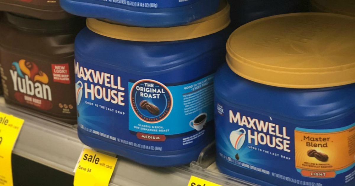 Maxwell House Coffee on Walgreens Shelf