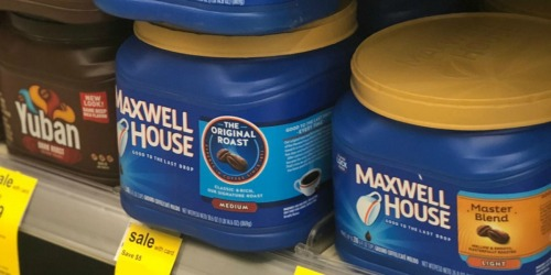 Maxwell House Coffee 30.6oz Canister Only $3.99 at Walgreens (Regularly $11)