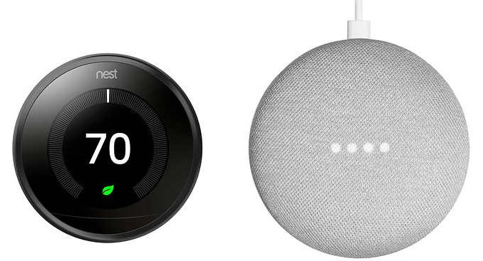 Nest Learning E Thermostat Amp Google Home Mini Only 149