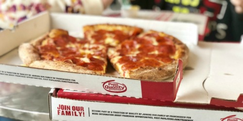 TWO Medium Papa John's Pizzas AND Cheesesticks Only $12