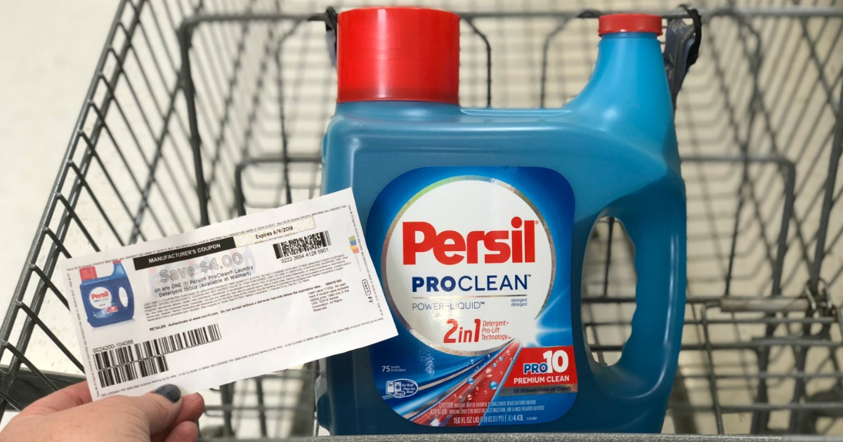 picture regarding Persil Printable Coupon identified as Dont Miss out on This $4/1 Persil ProClean Laundry Detergent