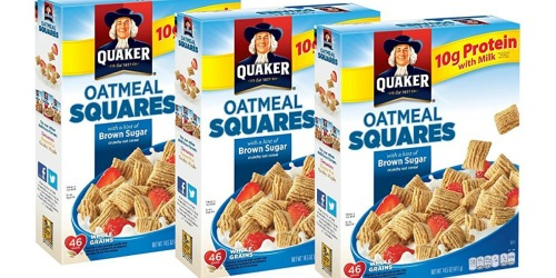 Amazon: Three Quaker Oatmeal Squares Cereal Boxes Only $5.36 Shipped (Just $1.79 Each)