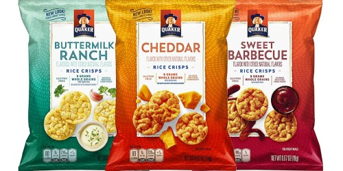 Amazon: Quaker Rice Crisps Snack Bags 30-Count Just $10.56 Shipped (Only 35¢ Each)