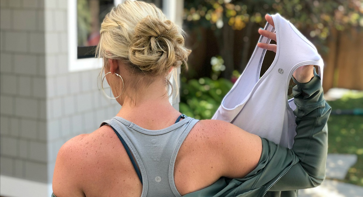 activewear pieces amazon lululemon –– Collin racerback tanks