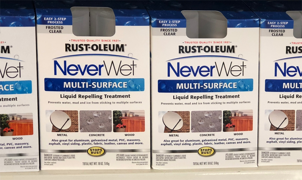 Rust Oleum Neverwet Multi Surface Spray Kit Only 1 At Dollar Tree Hip2save