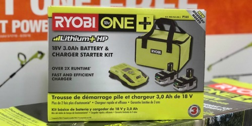 Ryobi ONE 2-Count Battery Starter Kit + 2 Bonus Tools Just $99 (Up to $327 Value)