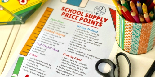 We've Put Together Our 2019 School Supply Price Points List AND Free Printable