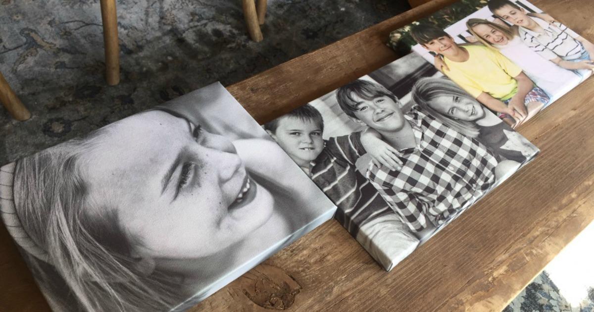 canvas wraps of Collin's kids