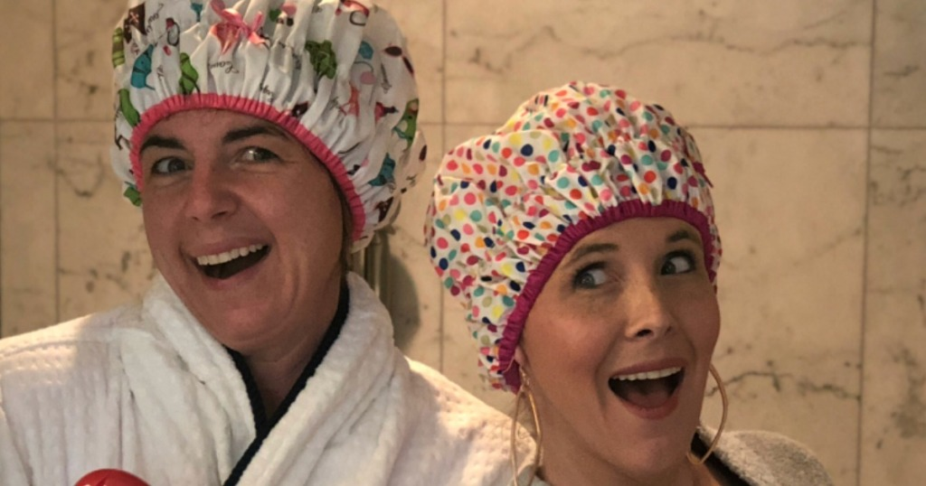 Collin & Bryn in Shower Caps