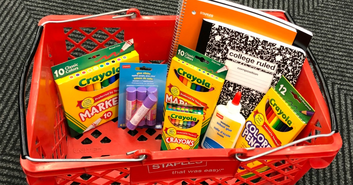 Staples Back to School Deals – 25¢ Notebooks, 50¢ Elmer's School Glue & More