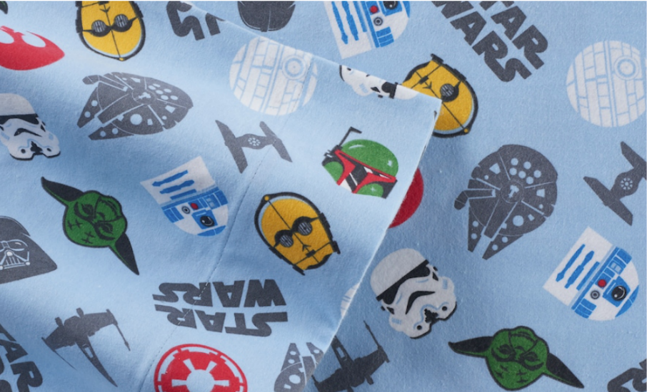 Kohl S Cardholders Star Wars Flannel Queen Size Sheet Set Only 12 59 Shipped Regularly 90 Hip2save