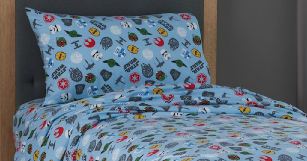 Kohl's Cardholders: Star Wars Flannel Queen Size Sheet Set Only