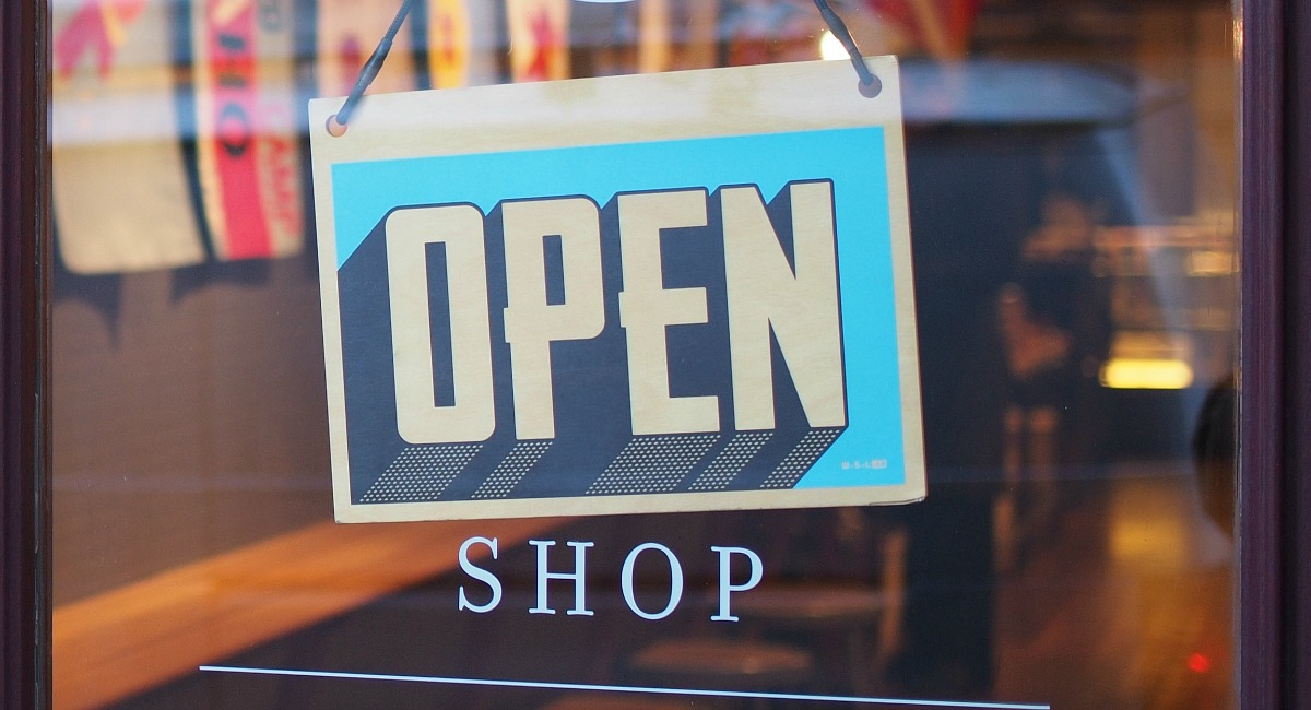 state sales tax online shopping - open sign