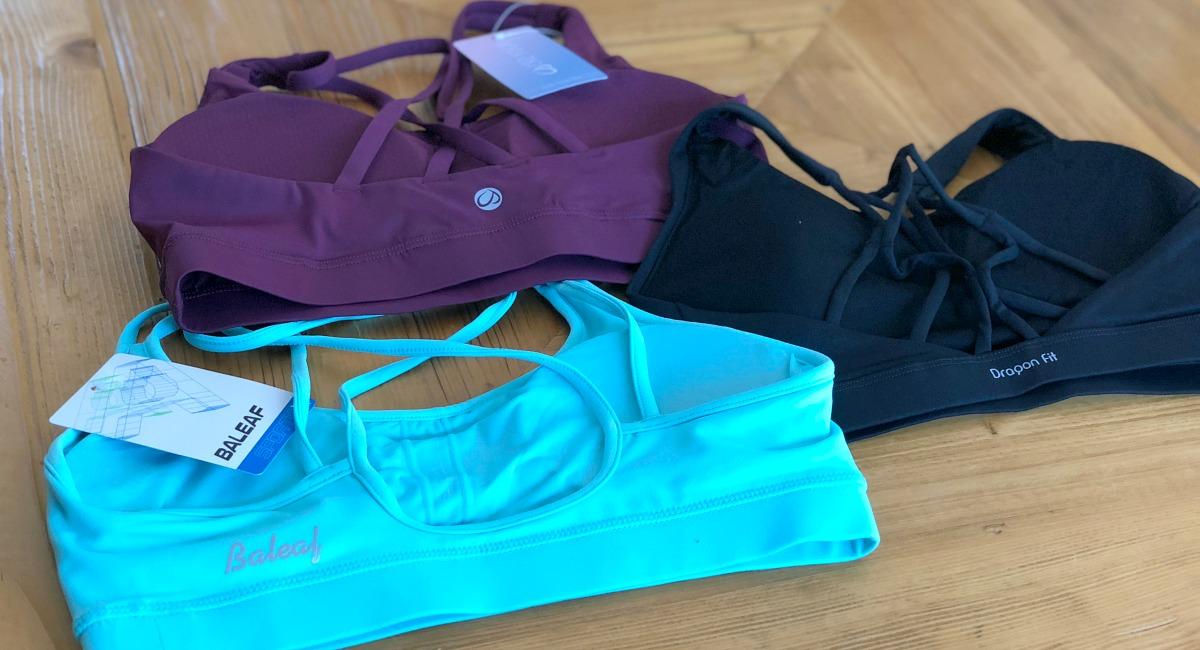 activewear pieces amazon lululemon –– strappy sports bras