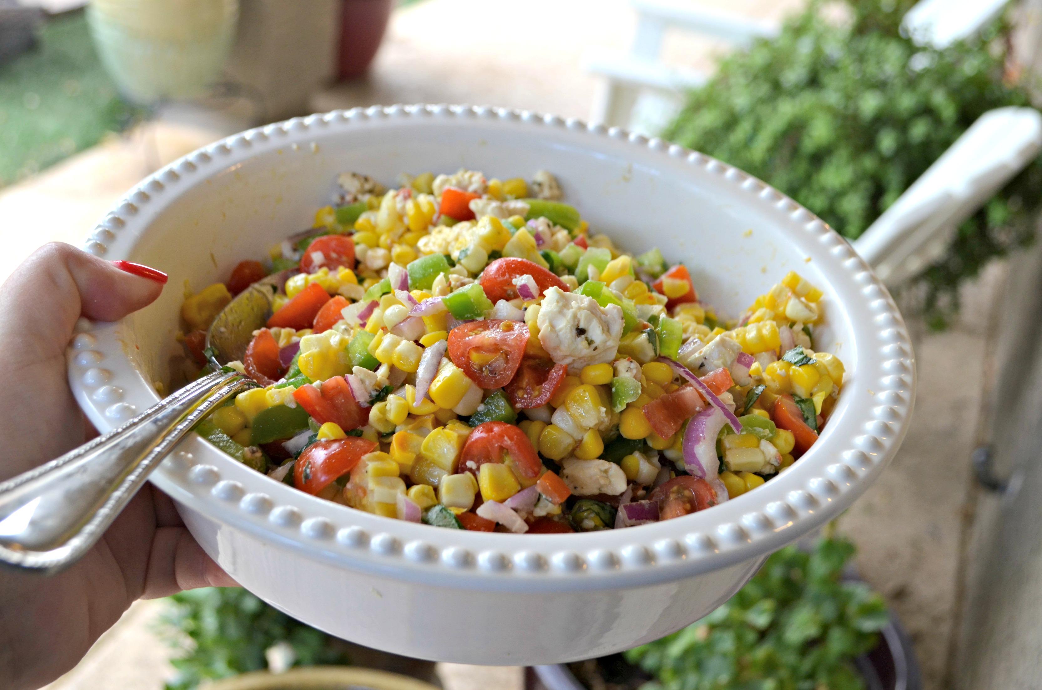 Easy Fresh Summer Corn Salad – close up