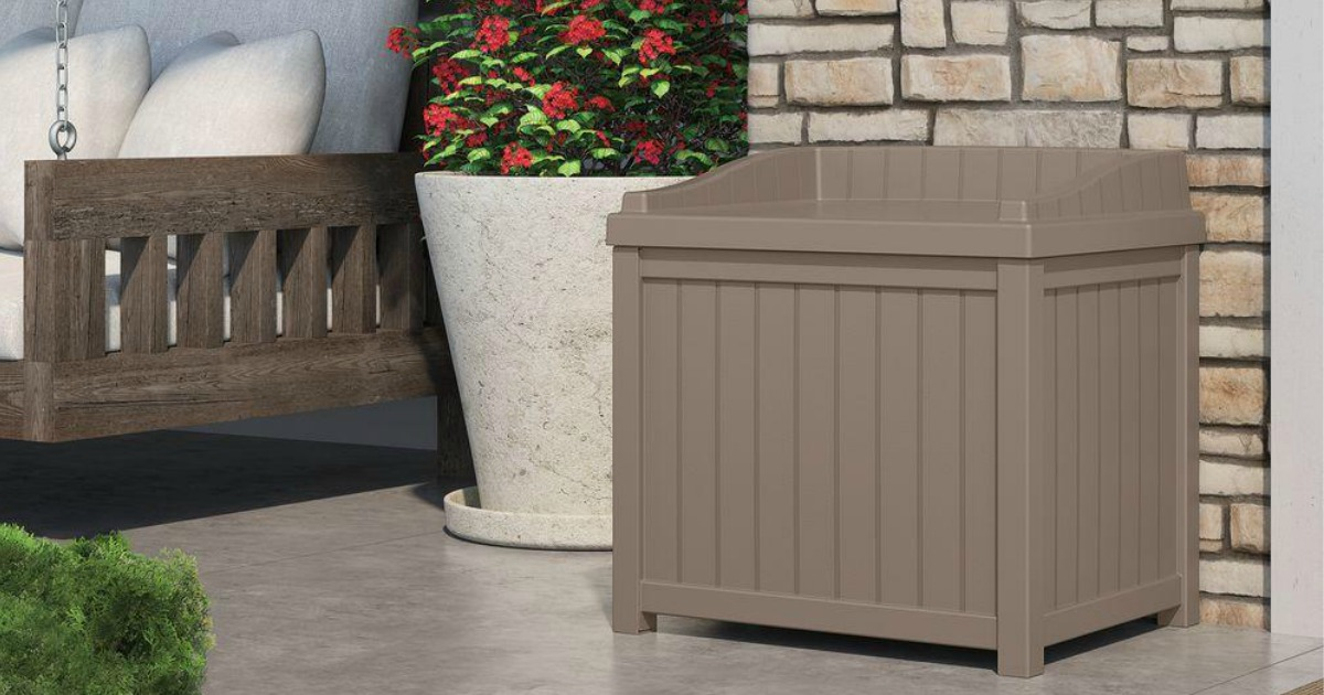 Suncast Storage Seat Deck Box Just $29 at Home Depot