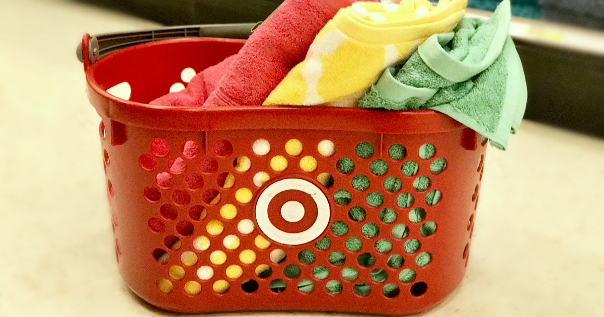 target made by design home collection | basket with towels