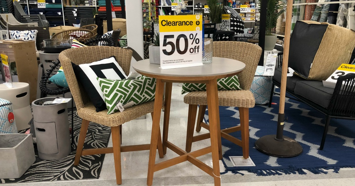 save money with these summer clearance sales – patio furniture marked at 50% off