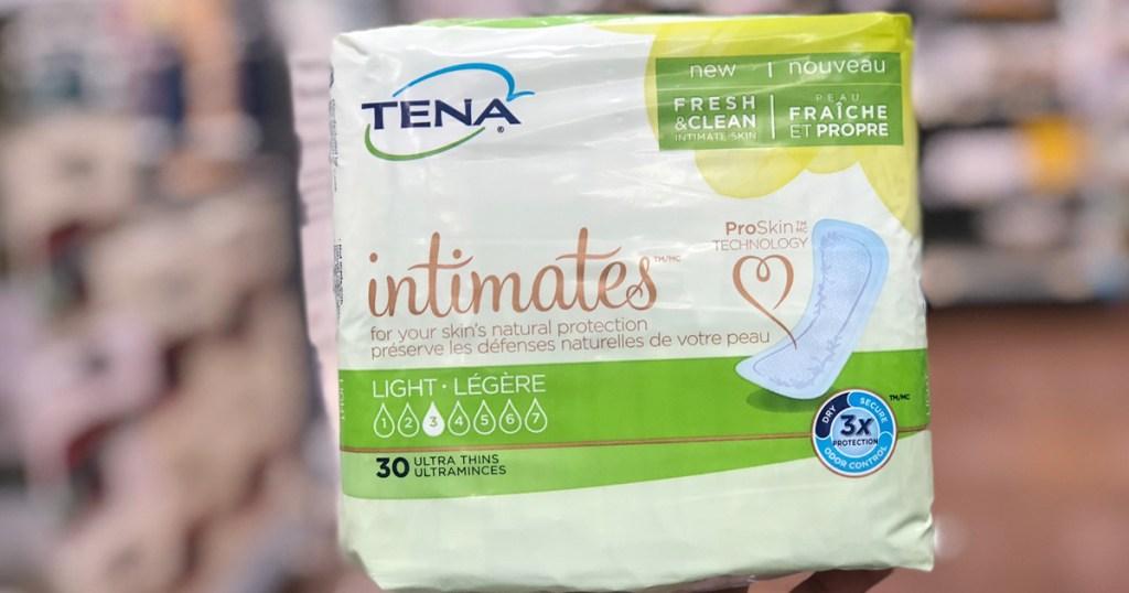 package of tena liners