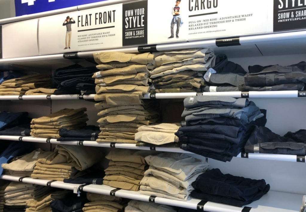 Children's Place Uniform pants display