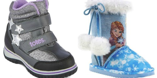 JCPenney.com: 80% Off Toddler Winter Boots (Disney, Totes & Okie Dokie)