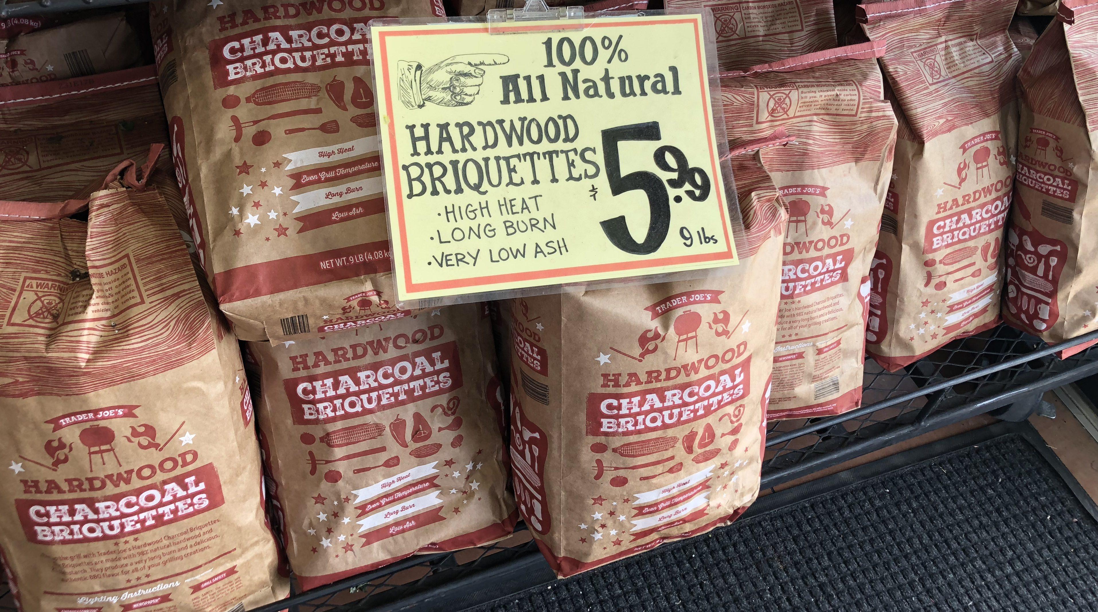 trader joes deals – hardwood briquettes