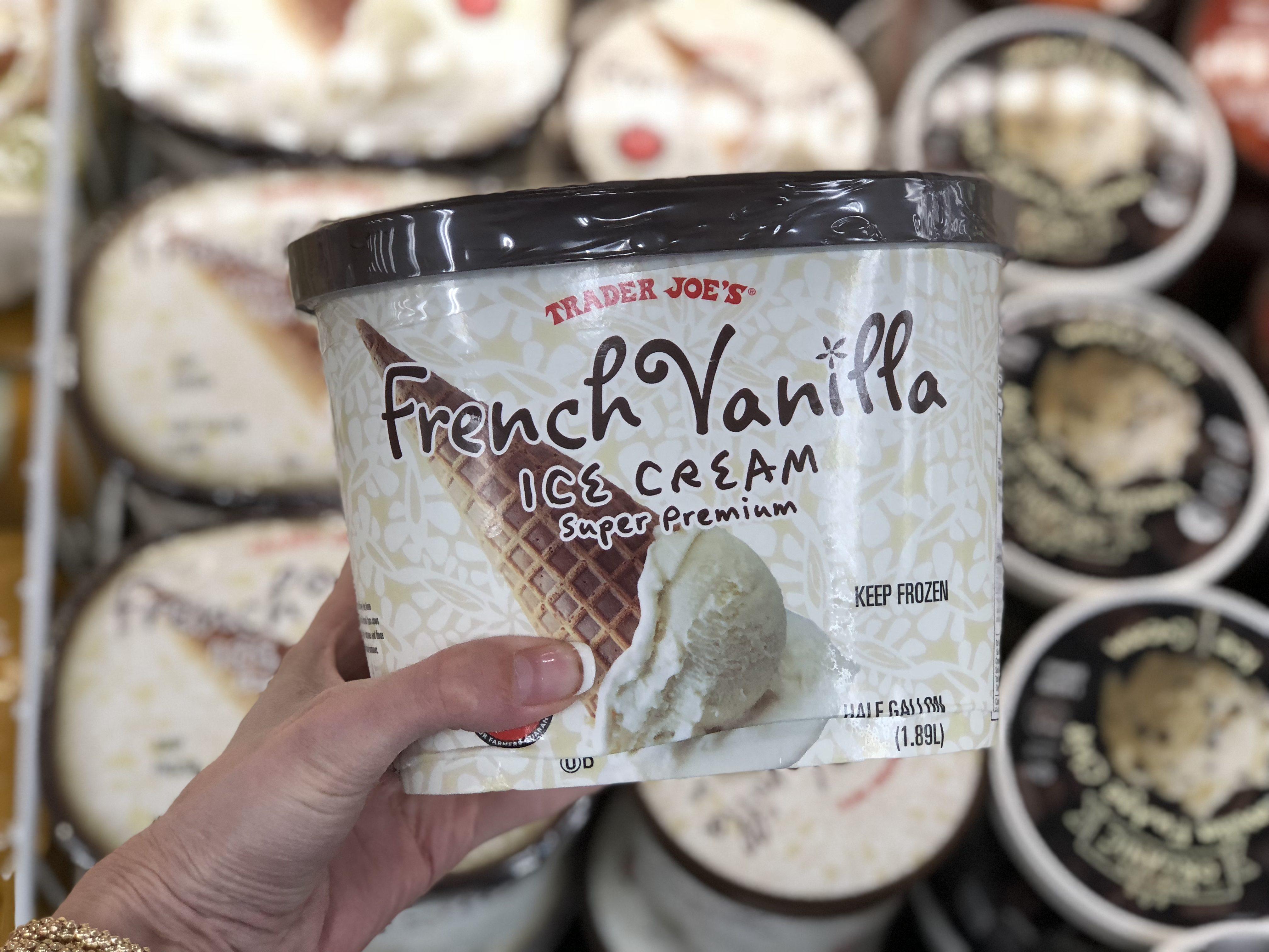 trader joes deals – french vanilla ice cream