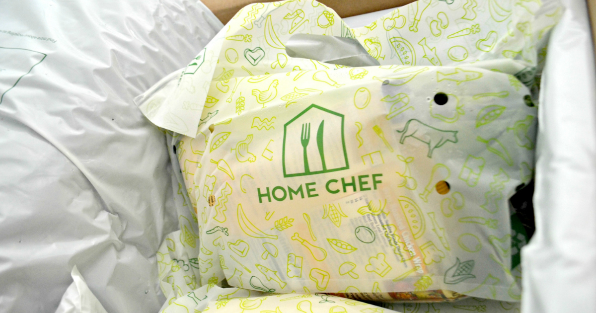 healthy homechef meals delivered keto – bagged ingredients inside the delivered box