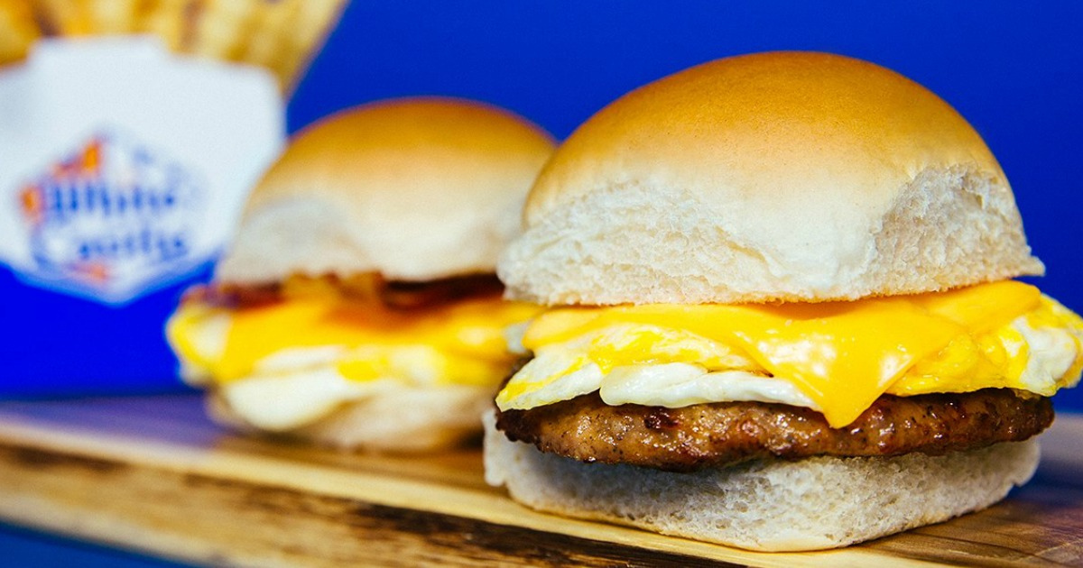 National Cheeseburger Day Deals 2018 - picture of a White Castle Slider