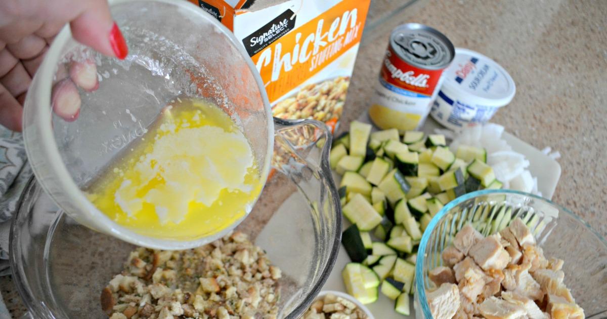 easy chicken zucchini casserole recipe -- ingredients