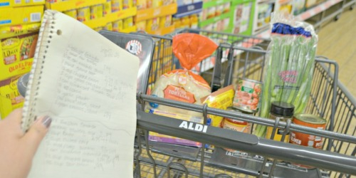 This FREE Printable 5 Day ALDI Meal Plan is EVERYTHING