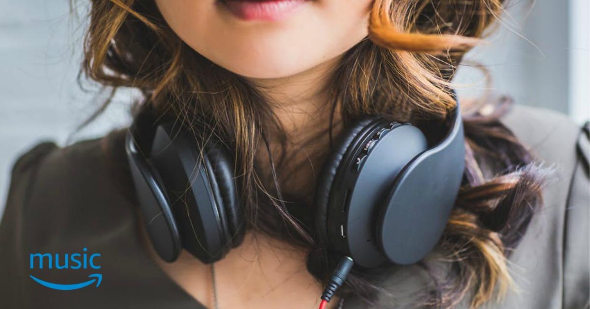 amazon no-rush rewards – girl with headphones